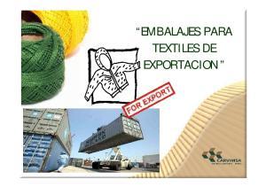 EMBALAJES PARA TEXTILES DE EXPORTACION