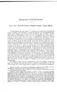 EMBARAZO Y LITIASIS RENAL