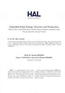 Embedded Flash Testing: Overview and Perspectives