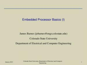Embedded Processor Basics (I)