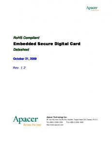 Embedded Secure Digital Card