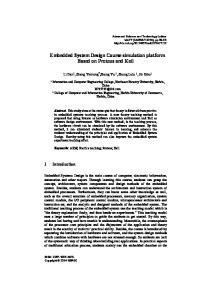 Embedded System Design Course simulation platform Based on Proteus and Keil