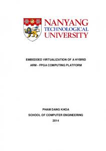 EMBEDDED VIRTUALIZATION OF A HYBRID ARM - FPGA COMPUTING PLATFORM