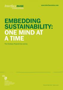 EMBEDDING SUSTAINABILITY: ONE MIND AT A TIME