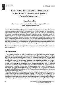 Embending Sustainability Dynamics