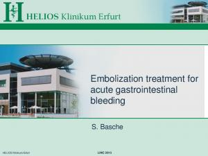 Embolization treatment for acute gastrointestinal bleeding