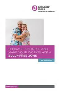 EMBRACE KINDNESS AND MAKE YOUR WORKPLACE A BULLY-FREE ZONE.  #PinkShirtDay