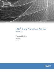 EMC Data Protection Advisor