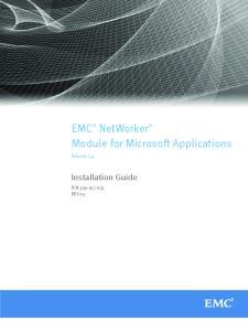 EMC NetWorker Module for Microsoft Applications