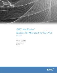 EMC NetWorker Module for Microsoft for SQL VDI