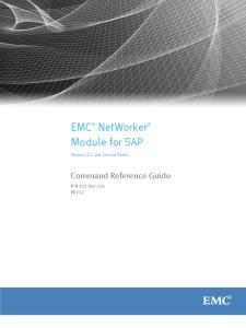 EMC NetWorker Module for SAP