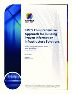 EMC s Comprehensive Approach for Building Proven Information Infrastructure Solutions