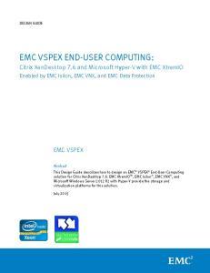 EMC VSPEX END-USER COMPUTING: