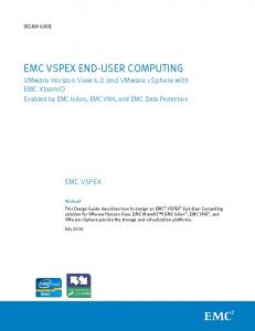 EMC VSPEX END-USER COMPUTING