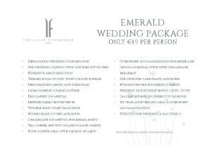 Emerald Wedding Package