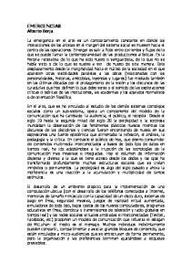EMERGENCIAS Alberto Borja