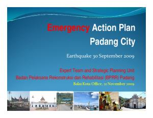 Emergency Action Plan Padang City