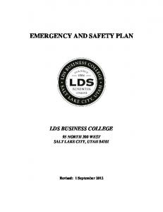 EMERGENCY AND SAFETY PLAN