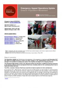 Emergency Appeal Operations Update Greece: Population Movement