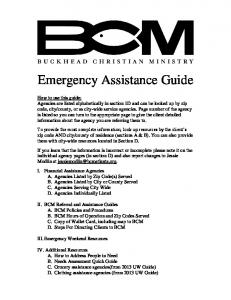 Emergency Assistance Guide
