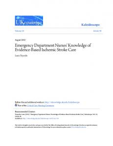Emergency Department Nurses' Knowledge of Evidence-Based Ischemic Stroke Care