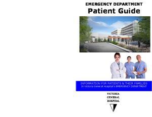 EMERGENCY DEPARTMENT Patient Guide