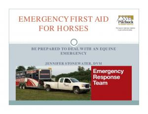 EMERGENCY FIRST AID FOR HORSES