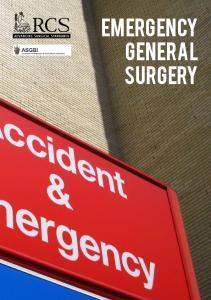 Emergency general surgery. Emergency general surgery