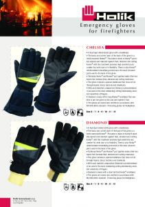 Emergency gloves for firefighters