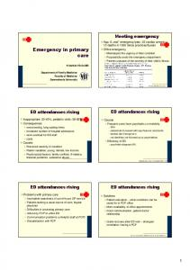 Emergency in primary care