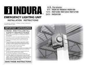 EMERGENCY LIGHTING UNIT INSTALLATION INSTRUCTIONS