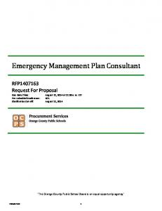 Emergency Management Plan Consultant
