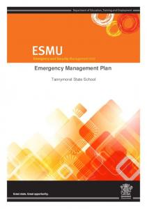 Emergency Management Plan. Tannymorel State School