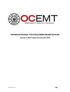 Emergency Medical Technician Basic Course Catalog