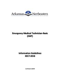 Emergency Medical Technician-Basic (EMT) Information Guidelines