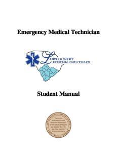 Emergency Medical Technician. Student Manual