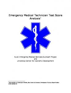 Emergency Medical Technician Test Score Analysis 1