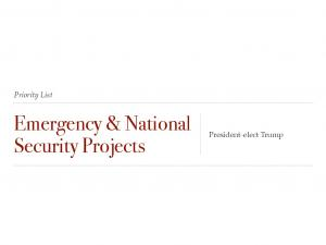 Emergency & National Security Projects