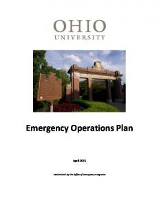 Emergency Operations Plan April 2015