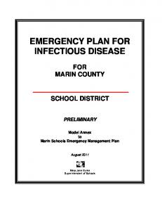 EMERGENCY PLAN FOR INFECTIOUS DISEASE