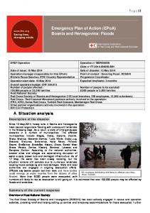 Emergency Plan of Action (EPoA) Bosnia and Herzegovina: Floods