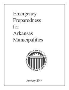 Emergency Preparedness for Arkansas Municipalities