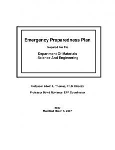 Emergency Preparedness Plan