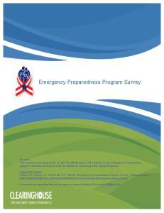 Emergency Preparedness Program Survey