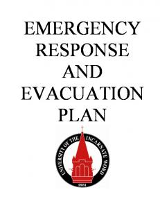 EMERGENCY RESPONSE AND EVACUATION PLAN