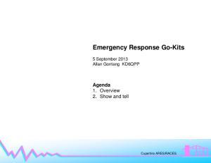 Emergency Response Go-Kits