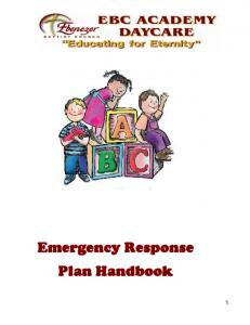 Emergency Response Plan Handbook