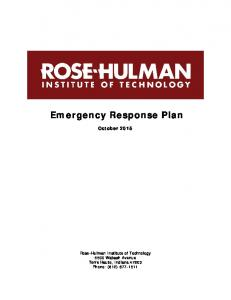 Emergency Response Plan October 2015