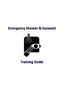 Emergency Shower & Eyewash. Training Guide