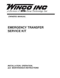 EMERGENCY TRANSFER SERVICE KIT